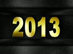 2013 text in wall GOLD 320x240 Stock Footage