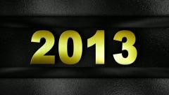 2013 text in wall GOLD 1280x720 Stock Footage
