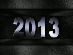 2013 text in wall SILVER 320x240 Stock Footage
