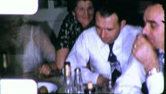 MEN DRINKING BOOZE Intoxicated 1940s Vintage 8mm Film Home Movie 6132 Stock Footage