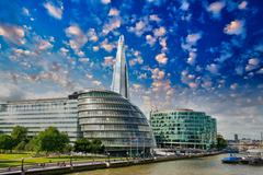 architecture of london - uk - stock photo