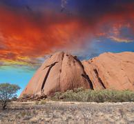 wild landscape in the australian outback, northern territory - stock photo