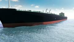 Oil tanker in a sea Stock Footage