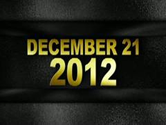 December 2012 text in wall gold 320x240 Stock Footage
