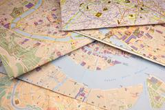 Map background. Stock Photos