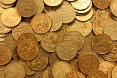 russian coins - stock photo