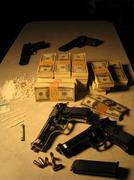 Guns Drugs and Dirty Money 03 Stock Photos