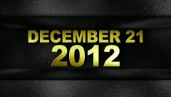 December 2012 text in wall gold 1280x720 Stock Footage