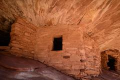 firehouse ruin in canyonlands - stock photo