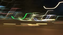 Light traces Stock Footage