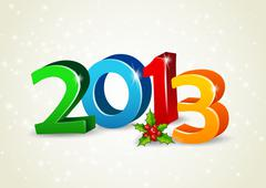 happy new year 2013 - stock illustration