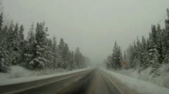 Winter snow driving Stock Footage