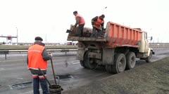Road repair 2 Stock Footage