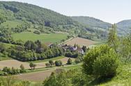 Small village in hohenlohe Stock Photos