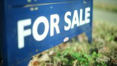 For sale house real estate market Stock Footage