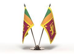 miniature flag of sri lanka (isolated) - stock illustration