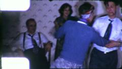 WILD Dance Party MAN Gay DRESSED AS WOMAN 1950s Vintage Film Home Movie 6156 - stock footage