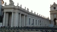 Vatican City St Peter Square Stock Footage