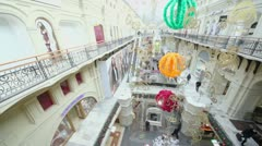 GUM - trade center, panoramic motion from above Stock Footage