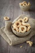 Stock Photo of taralli snacks