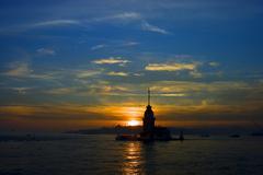 Maiden's Tower (Kiz Kulesi).jpg Stock Photos