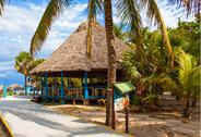 Stock Photo of bar by the beach in the cuban beach in varadero