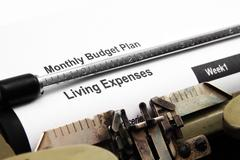 Living expenses Stock Photos