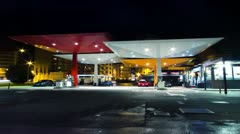 Gas Station Time lapse 4K Stock Footage