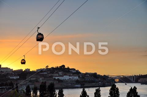 Stock photo of cable car of porto (portugal)