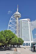 vasco de gama tower of lisbon - stock photo