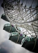 The london eye pods from a low angle Stock Photos
