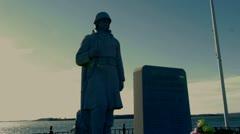 Korean War Memorial South Boston Stock Footage
