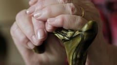 Elderly Hands Stock Footage