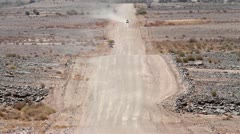 Namibia gravel road Stock Footage
