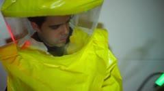 radioactivity scientist - stock footage