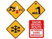 American winter warning signs Stock Illustration