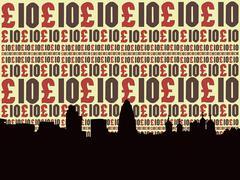 London skyline Stock Illustration
