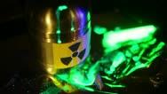 Toxic waste radiation move Stock Footage