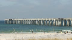 The County Pier, Panama City Beach, Florida - Gulf of Mexico - stock footage