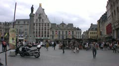 Lille town square, Northern France. Stock Footage