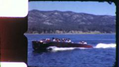 Kris-craft Speedboat POWER BOAT 1950s Vintage 8mm Film Home Movie 6058 Stock Footage