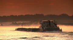 Ship on River Rhine Stock Footage