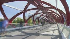 Pedestrian Bridge 02 Stock Footage
