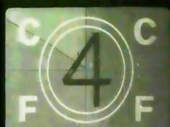 Film Leader with Countdown Stock Footage