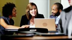 Multi Ethnic Meetings Business Atrium - stock footage