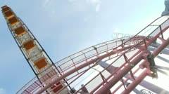 Japan - Yokohama Ferris Wheel - Minato Mirai - HD - 2 Stock Footage