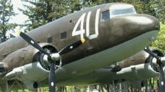 720p C-47 Plane 2 Stock Footage