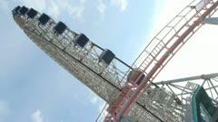 Japan - Yokohama Ferris Wheel - Minato Mirai - HD - 3 Stock Footage