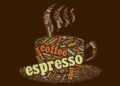 espresso cup - stock illustration