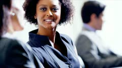 Close Up Female African American business Executive - stock footage